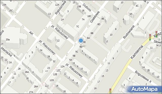 Kołobrzeg, Plac Ratuszowy, 5D, mapa Kołobrzegu