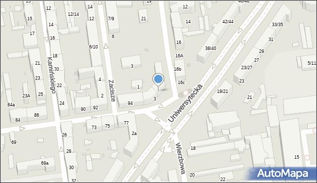 Łódź, Plac Pokoju, 4, mapa Łodzi