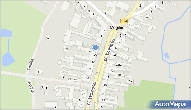 Mogilno, Plac Wolności, 10, mapa Mogilno