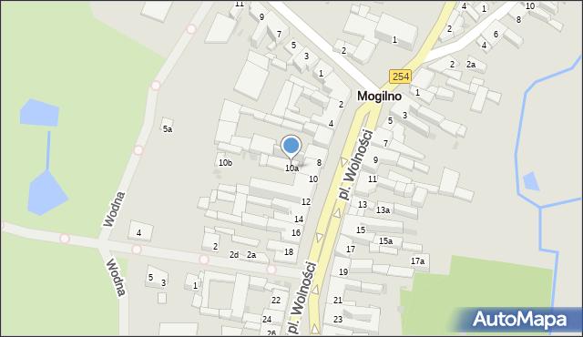 Mogilno, Plac Wolności, 10a, mapa Mogilno