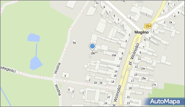 Mogilno, Plac Wolności, 10b, mapa Mogilno