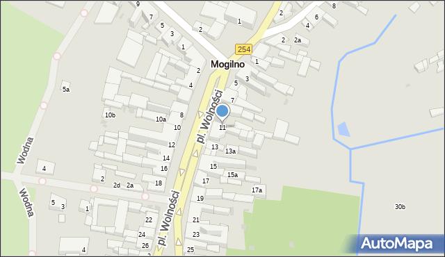 Mogilno, Plac Wolności, 11, mapa Mogilno