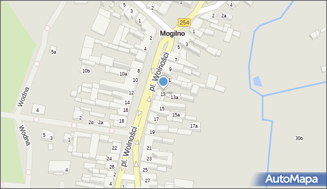 Mogilno, Plac Wolności, 13, mapa Mogilno