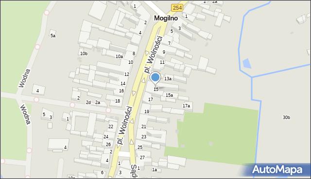 Mogilno, Plac Wolności, 15, mapa Mogilno