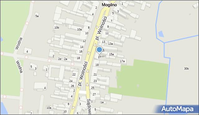 Mogilno, Plac Wolności, 17, mapa Mogilno