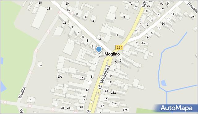 Mogilno, Plac Wolności, 2, mapa Mogilno