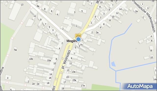 Mogilno, Plac Wolności, 3a, mapa Mogilno