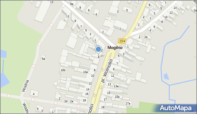 Mogilno, Plac Wolności, 4, mapa Mogilno