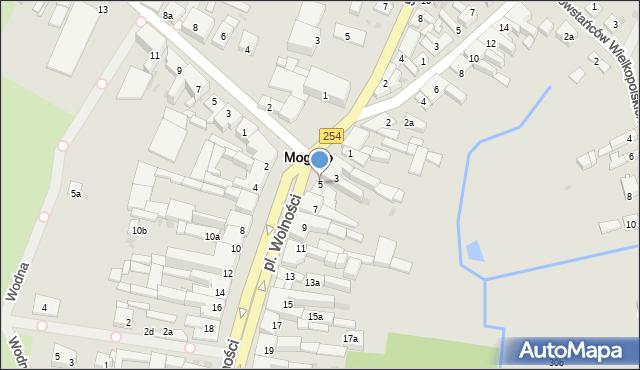 Mogilno, Plac Wolności, 5, mapa Mogilno