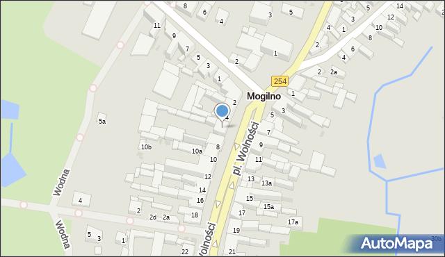 Mogilno, Plac Wolności, 6, mapa Mogilno