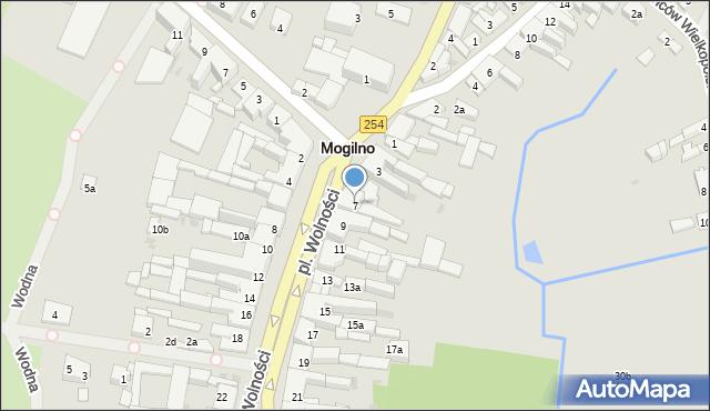 Mogilno, Plac Wolności, 7, mapa Mogilno