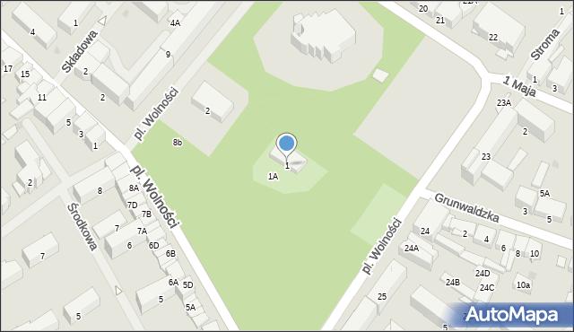 Olecko, Plac Wolności, 1, mapa Olecko