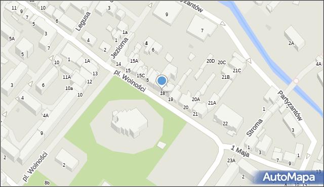Olecko, Plac Wolności, 18, mapa Olecko