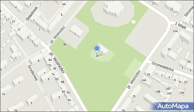 Olecko, Plac Wolności, 1A, mapa Olecko