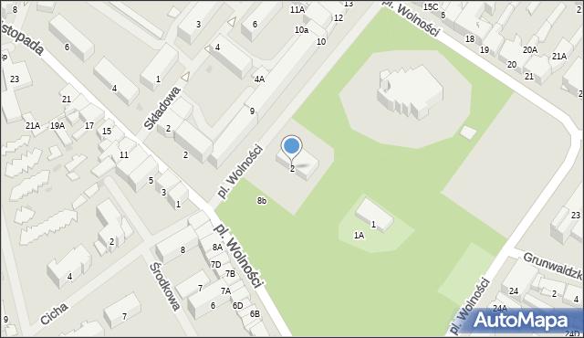 Olecko, Plac Wolności, 2, mapa Olecko