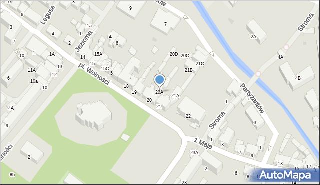 Olecko, Plac Wolności, 20B, mapa Olecko
