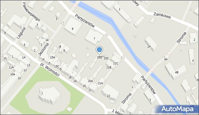 Olecko, Plac Wolności, 20D, mapa Olecko