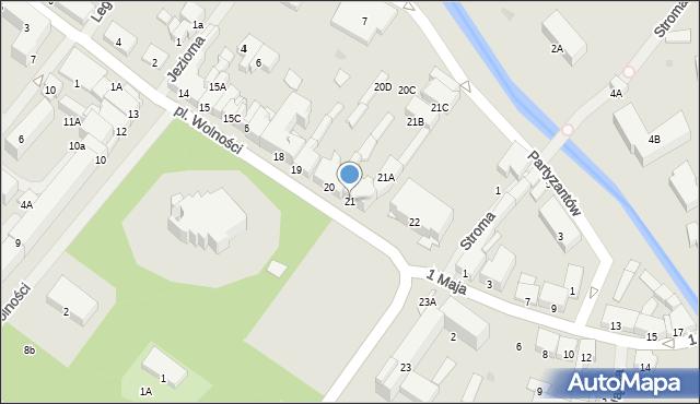 Olecko, Plac Wolności, 21, mapa Olecko