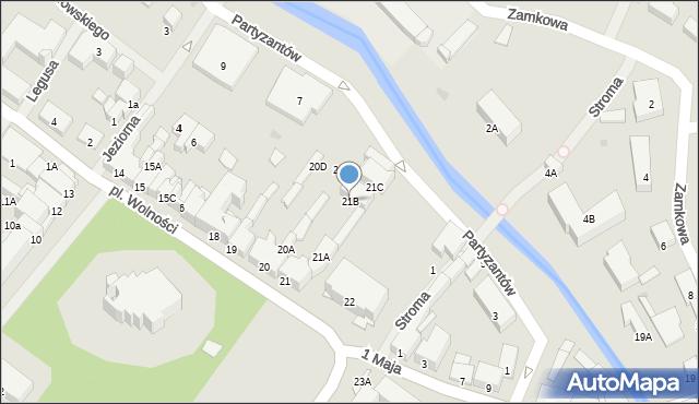 Olecko, Plac Wolności, 21B, mapa Olecko