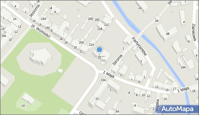 Olecko, Plac Wolności, 22, mapa Olecko