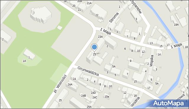 Olecko, Plac Wolności, 23, mapa Olecko