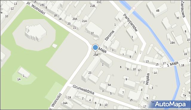 Olecko, Plac Wolności, 23A, mapa Olecko