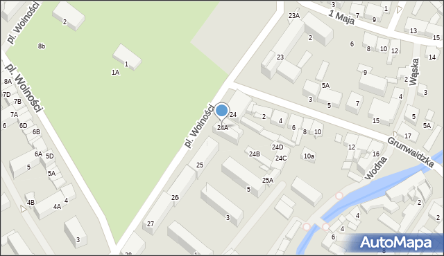 Olecko, Plac Wolności, 24A, mapa Olecko
