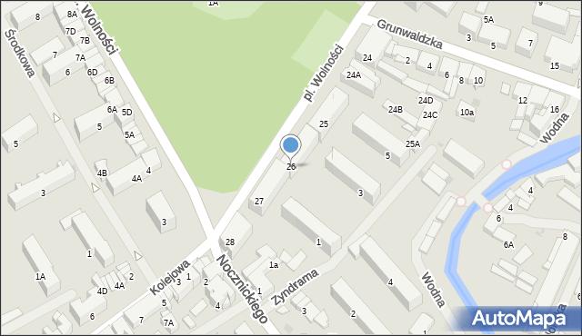 Olecko, Plac Wolności, 26, mapa Olecko