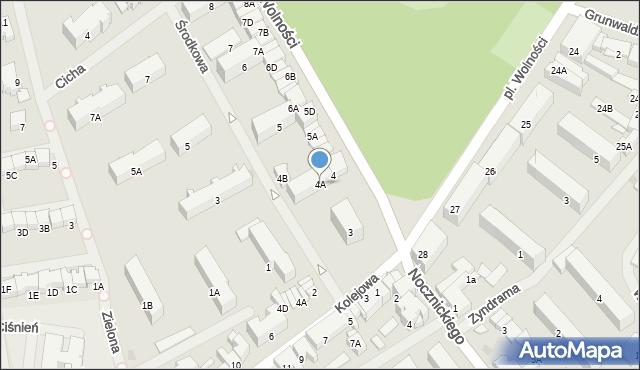 Olecko, Plac Wolności, 4A, mapa Olecko