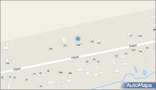 Plizin, Plizin, 15a, mapa Plizin