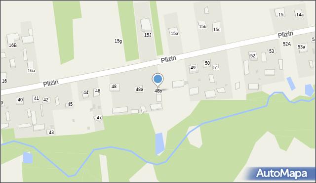 Plizin, Plizin, 48b, mapa Plizin