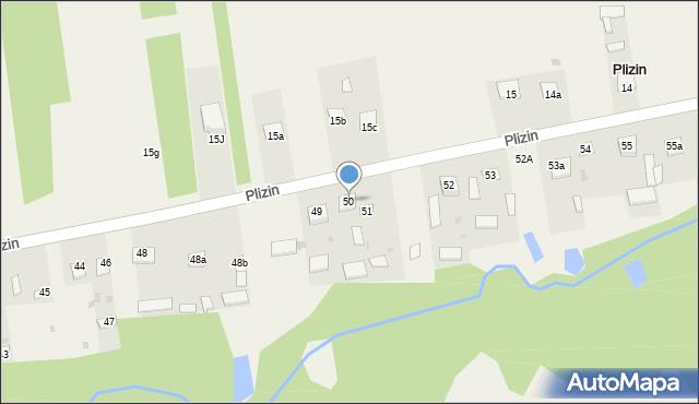 Plizin, Plizin, 50, mapa Plizin