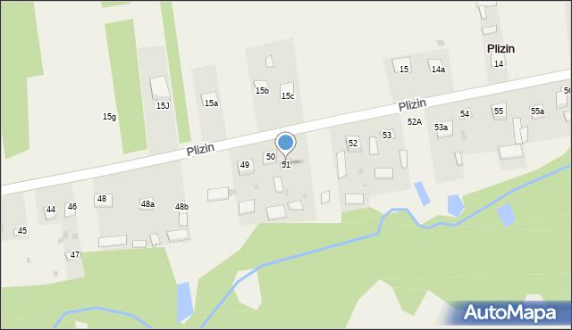 Plizin, Plizin, 51, mapa Plizin