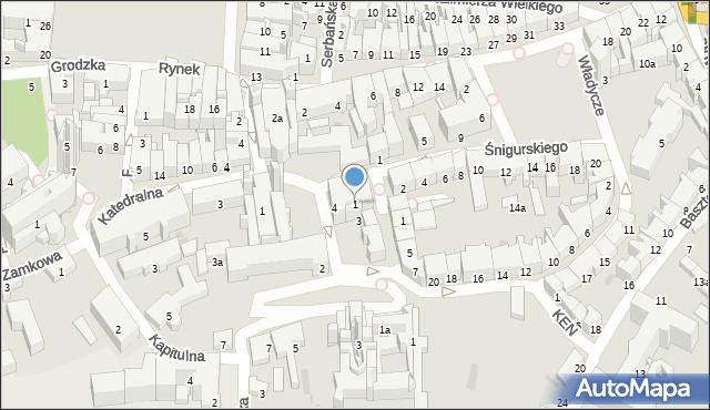 Przemyśl, Plac Czackiego Tadeusza, 1, mapa Przemyśla