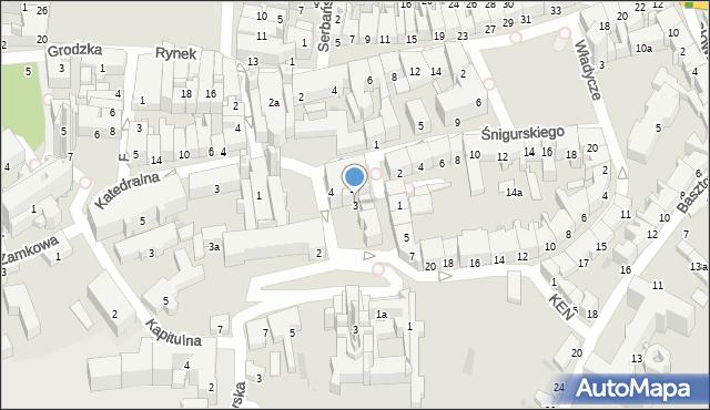 Przemyśl, Plac Czackiego Tadeusza, 3, mapa Przemyśla