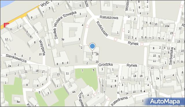 Przemyśl, Plac Dominikański, 1, mapa Przemyśla