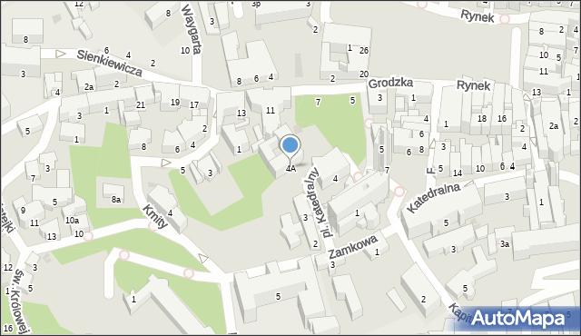 Przemyśl, Plac Katedralny, 4A, mapa Przemyśla