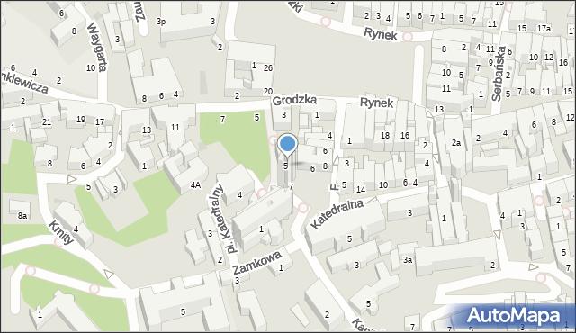 Przemyśl, Plac Katedralny, 5, mapa Przemyśla
