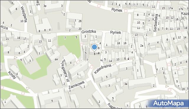 Przemyśl, Plac Katedralny, 6, mapa Przemyśla
