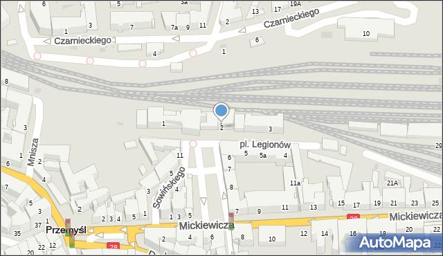 Przemyśl, Plac Legionów, 2, mapa Przemyśla