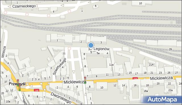 Przemyśl, Plac Legionów, 5, mapa Przemyśla