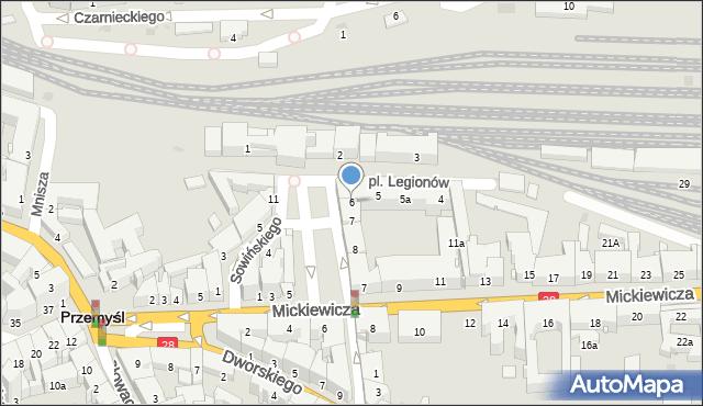 Przemyśl, Plac Legionów, 6, mapa Przemyśla