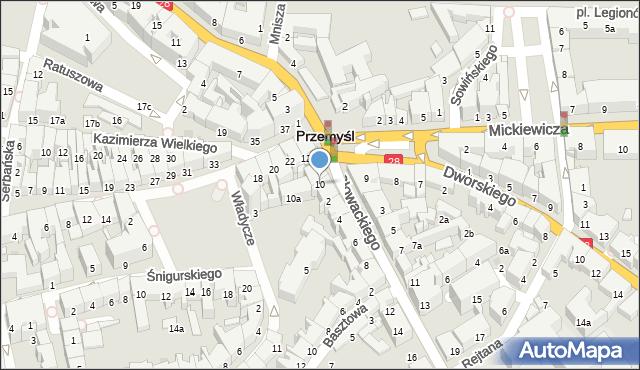 Przemyśl, Plac na Bramie, 10, mapa Przemyśla