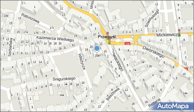 Przemyśl, Plac na Bramie, 10a, mapa Przemyśla