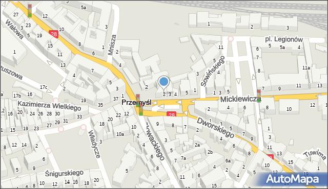 Przemyśl, Plac na Bramie, 2, mapa Przemyśla