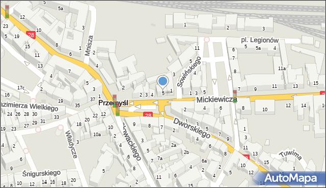 Przemyśl, Plac na Bramie, 5, mapa Przemyśla