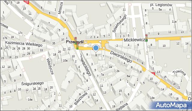 Przemyśl, Plac na Bramie, 8, mapa Przemyśla