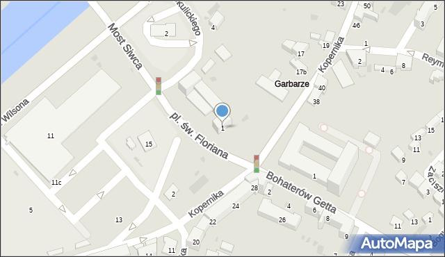 Przemyśl, Plac św. Floriana, 1, mapa Przemyśla