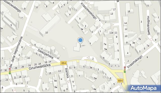 Przemyśl, Plac Unii Brzeskiej, 1, mapa Przemyśla
