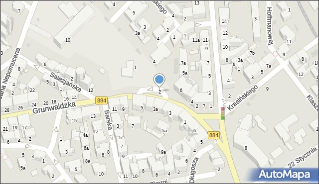 Przemyśl, Plac Unii Brzeskiej, 2, mapa Przemyśla